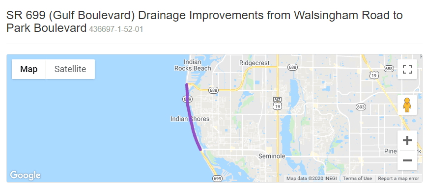 Gulf Boulevard Drainage Project Map