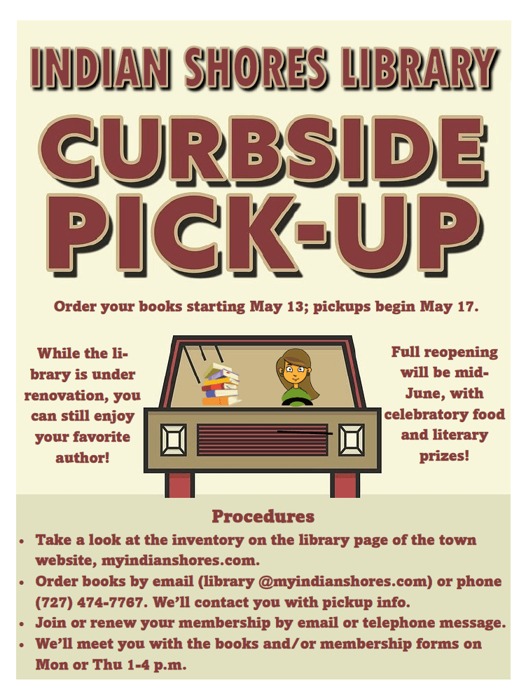 Library Curbside Pickup Resumes Flyer (PNG)